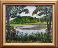 &quot;Pocasset River&quot; - Original Acrylic Painting by Jean Adelman